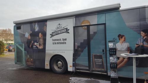 Das GastroMobil zu Besuch an der FUS  Dezember 2016