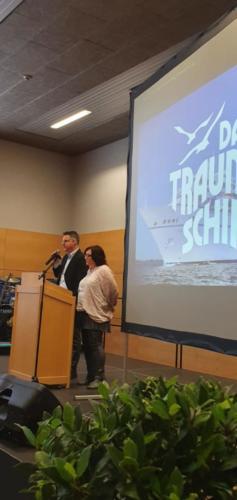 Joachim Drauz, Elternbeiratsvorsitzender und Nicole Ruiz Maile, Stellvertreterin